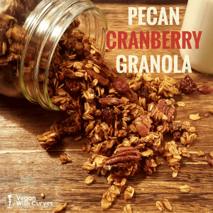 Pinterest graphic of granola coming out of jar