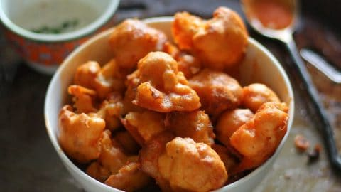 Vegan Buffalo Cauliflower Bites