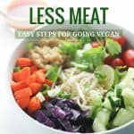 how to eat less meat