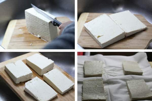 Drained and Press Tofu