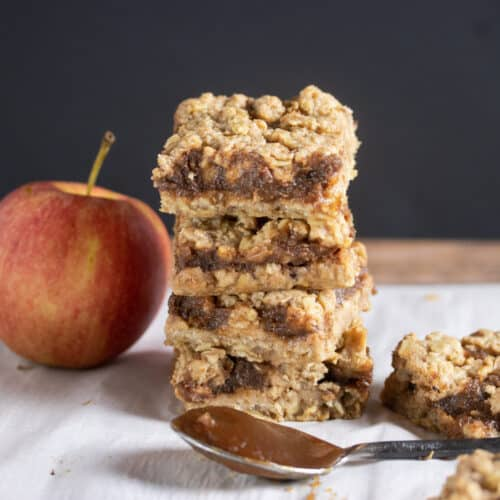 apple butter bars stacked on top of each other