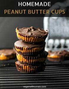pinterest graphic of homemade peanut butter cups