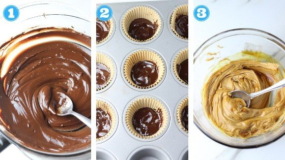 homemade peanut butter cups step by step