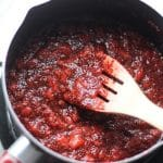 homemade strawberry jam in a pot