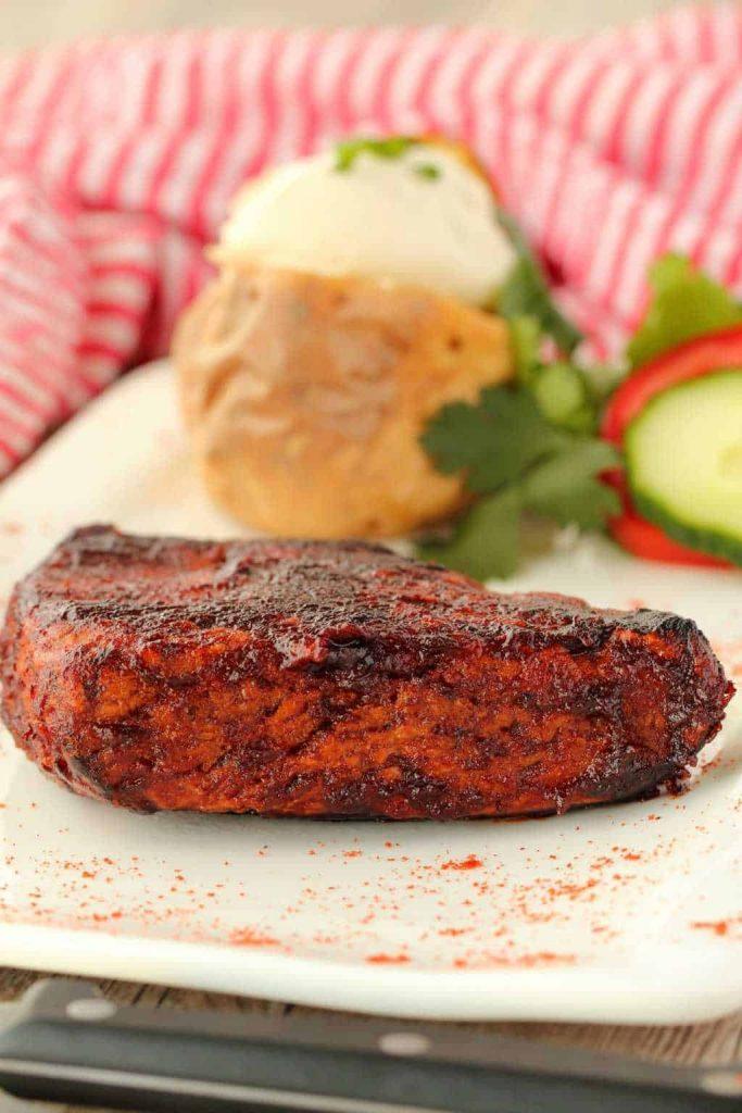 vegan steak on a plate