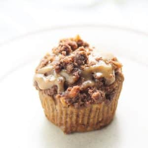 one muffin on a plate