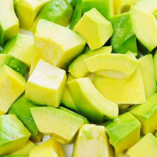 picture of chopped up avocado