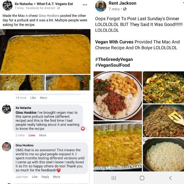 3 grid photo of recipe testimonials from readers