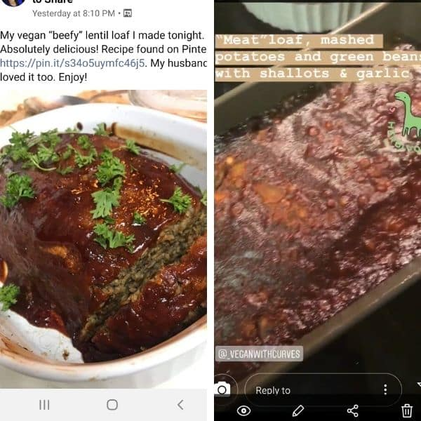 2 grid photo of recipe testimonials from readers