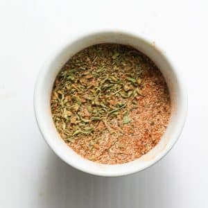 seasoning in a small white bowl